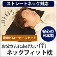 【送料無料】お父さんにあげたいネックフィット枕&専用ピローケースセット【ストレートネック/スマホ首/首まくら/ネック枕/まくら】
