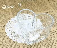 [ジョイキャンドル]ホルダーグラスHハート型グラス(手作りキャンドル・ジェルキャンドル)