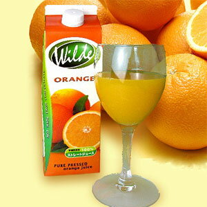 ワイルドストレートオレンジジュース(果汁100%) 1L【10P06Aug16】