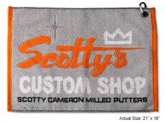 送料無料★スコッティキャメロン  タオル SCOTTY CAMERON 2011 SCOTTYS CUSTOM SHOP GOLF TOWEL GRAY AND ORANGE
