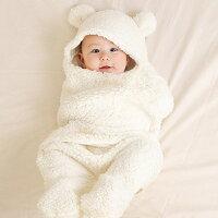 送料無料ベビーおくるみニューボーンフォトベビー服新生児赤ちゃん寝相アート出産祝い写真撮影記念撮影ギフトプレゼントくまクマ耳シンプル白ホワイトベビー用品かわいい人気新作ファッションおしゃれインスタ映え8z70