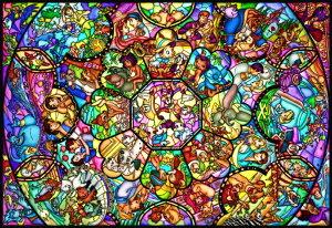 ディズニー キャラクター ジグソーパズル ステンドアート オールスター ステンドグラス テンヨー