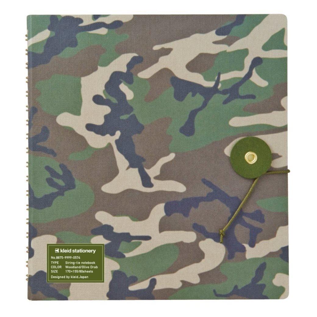 手帳・ノート, その他 DM String-tie notebook WoodlandOlive Drab(8875) t100