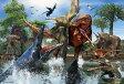 【あす楽】恐竜 40ピース ジグソーパズル ティラノサウルスVSモササウルス(26x38cm)(40-006)[ビバリー] b100