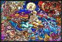 【在庫あり】ジグソーパズル 1000ピース ディズニー アラジン ストーリー ステンドグラス ピュアホワイト (51x73.5cm) (DP-1000-029) テンヨー 梱80cm t102