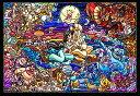 【在庫あり】ジグソーパズル 500ピース ディズニー アラジン ストーリー ステンドグラス ぎゅっとシリーズ ステンドアート (25x36cm) (DSG-500-474) テンヨー 梱60cm t1