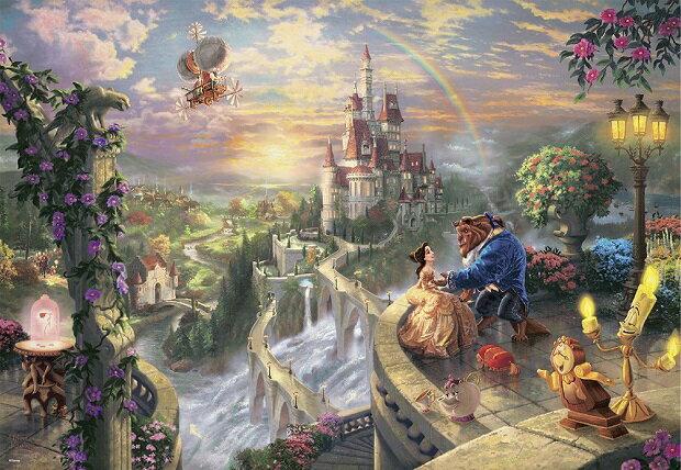 パズル, ジグソーパズル  1000 Beauty and the Beast Falling in Love(51x73.5cm)(D-1000-487) 80cm t122