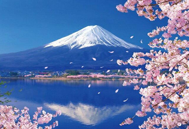 【在庫あり】ジグソーパズル 1000ピース 富士と桜咲く湖畔 (49×72cm)(51-235) ビバリー 梱80cm t101画像
