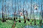 【在庫あり】ジグソーパズル 1000ピース 藤城清治 湿原のミズバショウとこびと (50x75cm) (1000-696) アップルワン 梱80cm t102