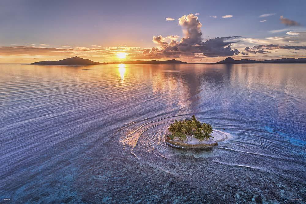 【在庫あり】ジグソーパズル 1000ピース KAGAYA 小さな楽園(JEEP島の夕日) (50x75cm)(10-1345) やのまん 梱80cm t101画像