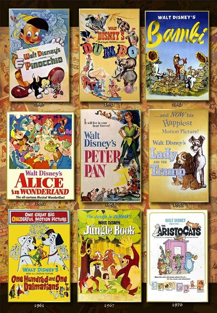 パズル, ジグソーパズル  1000 Movie Poster Collection Disney Animations (51x73.5cm)(D-1000-064) 80cm t100
