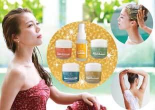 【送料無料】5種セットサンプル QueenRose Cosmetic Line スクラブ、ヘアビタミン(洗いながさないトリートメント)、フットマッサージ用クリーム(全身に使えるクリーム)、クリームバス(ヘッドスパ)、温熱スマートクリーム(脂肪燃焼クリーム)