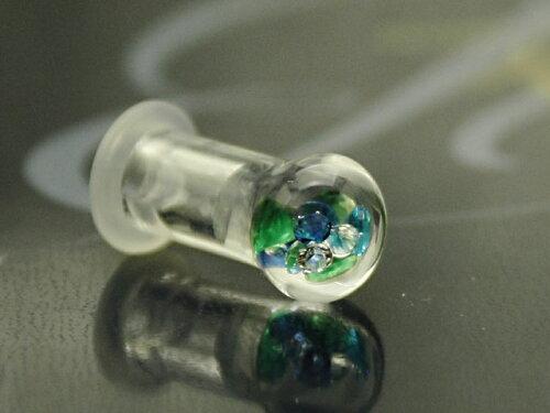 ガラスのボディピアス:ラウンド2G(6ミリ)サイズ