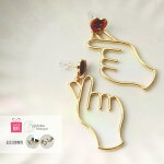 ハートチタンピアス金属アレルギーイヤリング手韓国ハートマークおもしろピアスハンドメイドかわいいゴールドアクセサリーレディース女性ギフトプレゼントポイント消化