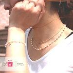 チョーカーネックレス16金コーティングレディースパールゴールドカジュアルアクセサリープレゼント女性フォーマルパーティギフトポイント消化