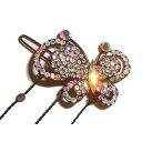 【3点よりどり対象】ゆらゆら光るラインストーンが綺麗な大きな蝶々ヘアピ...