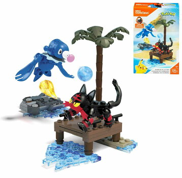 MEGACONSTRUXメガコンストラックスポケモンニャビーVSアシマリ128ピースFFY81ブロックで組み立てて遊ぼうレゴ風おもちゃクリスマス海外直輸入品