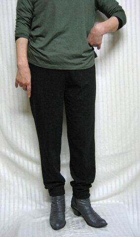 【送料無料】チュニック人気の立役者ゆったりスパッツ・パンツ上質Tシャツ 綿素材 黒40代.50代.60代.70代 個性派シニア ミセス レディースファッション