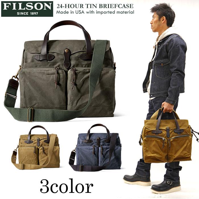 メンズバッグ, ビジネスバッグ・ブリーフケース FILSON() 24-HOUR TIN BRIEFCASE 11070140