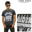 JUNKFOOD ジャンクフード 半袖Tシャツ 《NFL Collection》OAKLAND RAIDERS n7890-7730