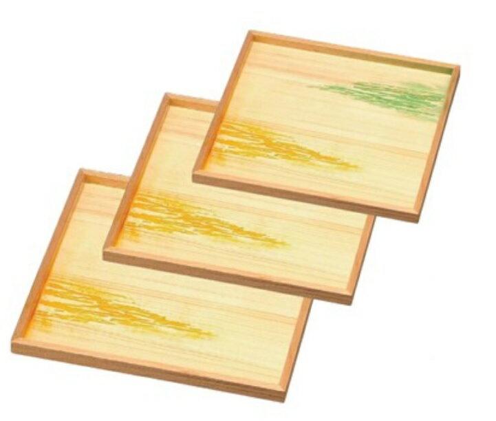 越前漆器 木製懐石盆 木製角御神前盆 雲海 尺1