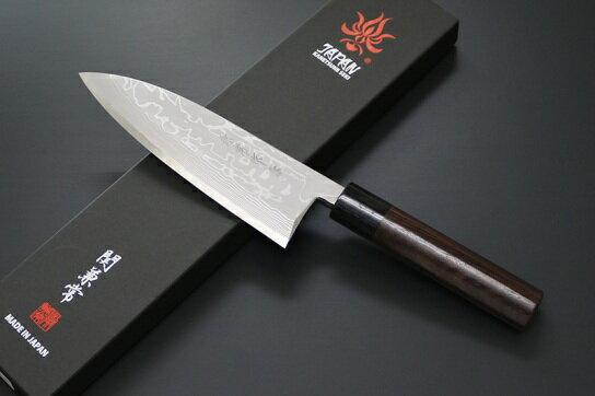 日本製兼常作出刃165mm(片刃)左用紫檀柄左利き用出刃包丁