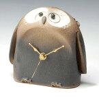 【送料無料】G5-0409 福朗腹時計 (信楽・置時計)【ヤマ庄陶器】