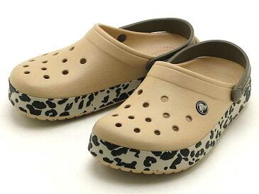 crocs crocband leopard clog203171-70Nクロックスクロックバンド レオパード クロッグgold/black leopard
