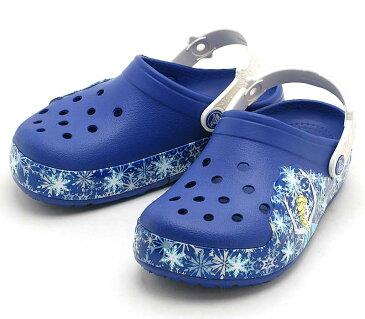 crocs crocslights Frozen clog kids 202357-4BEクロックスライツ フローズン クロッグ キッズ【アナ雪】cerulean blue/oyster