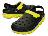 crocs duet max clog201398-064クロックスデュエット マックス クロッグblack/yellow