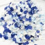 フラワーシャワー造花青白ブルーホワイト