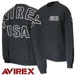 アビレックスAVIREXSWEATSHIRTアヴィレックススウェットトレーナービッグアーチロゴ6193477M-XL
