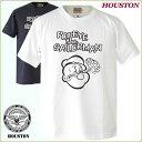 ヒューストン ミリタリーTシャツ Houston キャラクターデザインTシャツ POPEYE