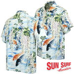 サンサーフアロハシャツ洋柄半袖サンサーフレーヨンアロハシャツ