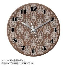MYCLO(マイクロ) 壁掛け時計 ウッド素材(ウォールナット) 丸型 23cm エレガント com1663