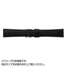 MIMOSA(ミモザ) 時計バンド CMトカゲ 17mm ブラック (美錠:金) TM-A17