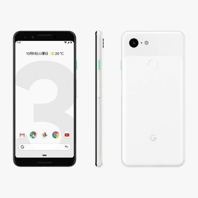 Google Pixel 3 64gb clearly white「新品 未使用品 白ロム」SIMフリー docomo Google Pixel 3 6...