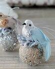 バードONボールオーナメント2色6102【クリスマスツリー/Christmas/Xmas/飾り/デコレーション/装飾/おしゃれ/インテリア雑貨】