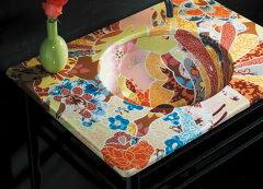 洗面台【KOHLER・コーラー】陶器製カウンタートップ。穴無し、1穴、3穴があります。W584 D498 H833