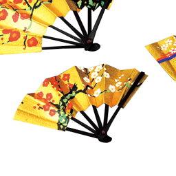 【クリックポスト便可】【メール便可】豆扇 1.5寸 紅梅【日本製】 64237【お正月 お祝い 豆扇 金 ゴールド】