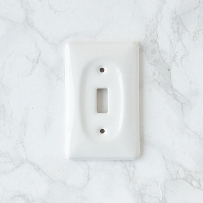 アメリカンスイッチプレートセラミック製2 シングル【USA】陶器・磁器の写真