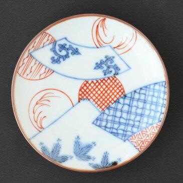 丸皿 染錦扇面丸紋富士図 F-10 16036-M056【有田焼 和食器 和モダン おしゃれ おもてなし 日本製 手塩皿 豆皿 小皿】