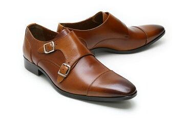【送料無料】革靴 本革 ビジネスシューズ クインクラシコ Queen Classico メンズ ドレスシューズ 紳士靴 qc512br ブラウン(茶) ダブルモンクストラップ 日本製(国産)