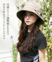 サイドリボンQueenハット紫外線100%カット帽子レディース大きいサイズ帽子屋QUEENEHAD