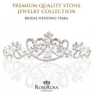 1848afc2ce430 スワロフスキーラインストーンで作られたのティアラ 結婚式 ウエディング パーティー ブライダルにご自身のティアラを ウエディング 小物 王冠 ティアラ  ...