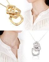 【ホワイトゴールドネックレス】ネックレスペンダント【送料無料・ラッピング無料】高品質ダイヤ/K18WG/WHITEGOLD【2TYPE】GOLD☆WG】【0.08ct】プレゼント/ギフト/女性/レディース/necklace/DIAMOND