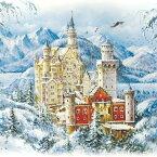 ジグソーパズル1000ピース パズル1000ピース Schwanstein Castle ノイシュヴァンシュタイン城 冬 Winter 風景 絵画パズル サイズ735X510mm 付属品 パズル パズルリキッド ヘラ付き 実物ポスター A-1142 chamber art メール便対応不可入学式 卒業式 成人式