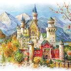 パズル 1000ピース ジグソーパズル1000ピース Schwanstein Castle ノイシュヴァンシュタイン城 夏 summer 風景 絵画パズル サイズ735X510mm 付属品 パズル パズルリキッド ヘラ付き 実物ポスター A-1140 chamber art メール便対応不可入学式 卒業式 成人式