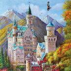 ジグソーパズル500ピース ジグソーパズル シュヴァンシュタイン城 Schwanstein Castle イラスト 風景 絵画パズル サイズ520×380mm 付属品 パズル パズルリキッド ヘラ付き 実物ポスター A-5128 chamber art 卒業式 卒園式 お呼ばれ 二次会