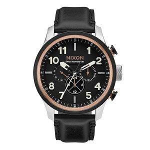 【送料無料】国内正規品NIXONニクソンTHESAFARIDUALTIMELEATHERメンズ腕時計NA10822051-00【新品】【RCP】【02P12Oct14】